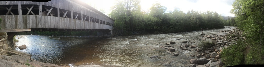 An awesome river & covered bridge near White Mountain National Park, also in New Hampshire. Wading in this was a very pleasant surprise at the end of the day.