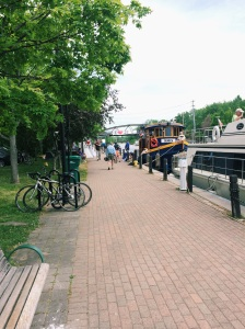 Fairport held their festival right on the canal. Party boats, food stands, and dads-in-socks-and-sandals galore.