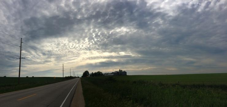 The Iowa sky evolved through so many deep shades of blue as the sun set each night.