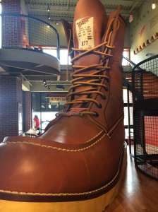"""The Red Wing boot HQ in (you guessed it) Red Wing, Minnesota! This right here is the world's largest boot, which I think embodies """"mildly interesting"""" perfectly."""