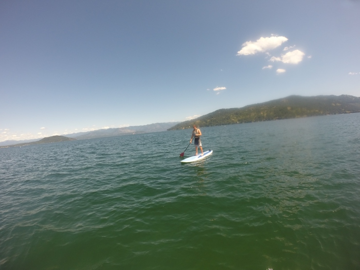 Paddle-boarding back in Sandpoint!