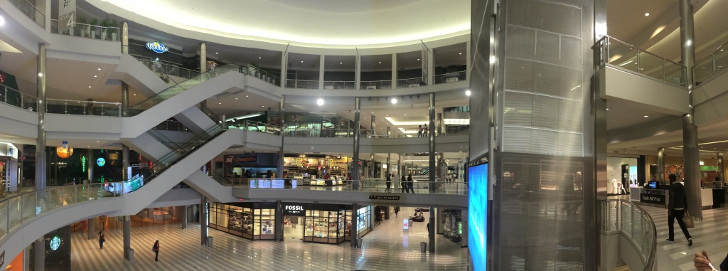 The central hub of the Mall of America