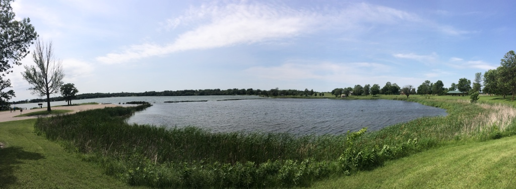 Minnesota truly was the Land of 10,000 Lakes, and this one hosted us in Fergus Falls. The catch to having so many beautiful lakes is that it was also the land of ~20,000,000 snakes.