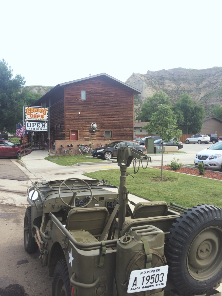 Downtown Medora, a touristy, bizarro-1860's town tucked away adjacent to the Theodore Roosevelt National Park.