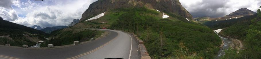 About halfway up the climb to Logan's Pass.