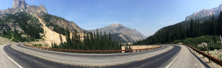 Amidst one of the final climbs through the North Cascades