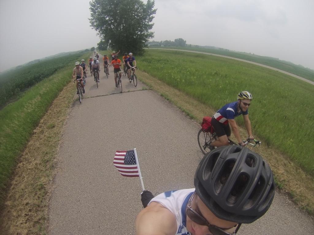 Celebrating the Fourth on one of Minnesota's bike paths!