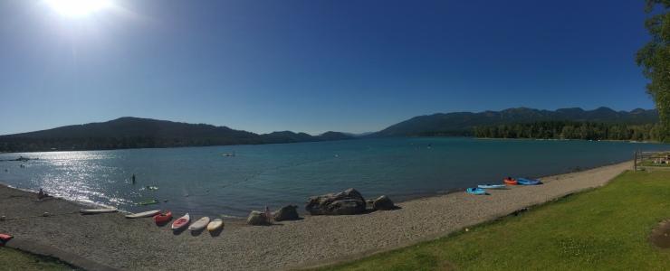 City Beach on Whitefish Lake