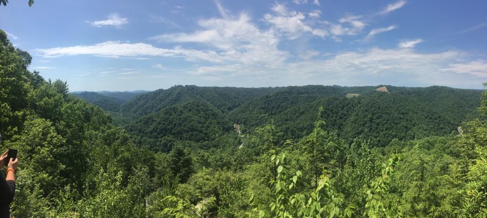 The Blue Ridge Mountains living up to their name.