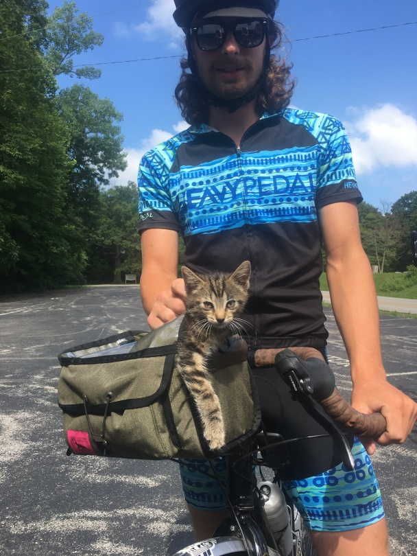 Jeff and a feral kitten