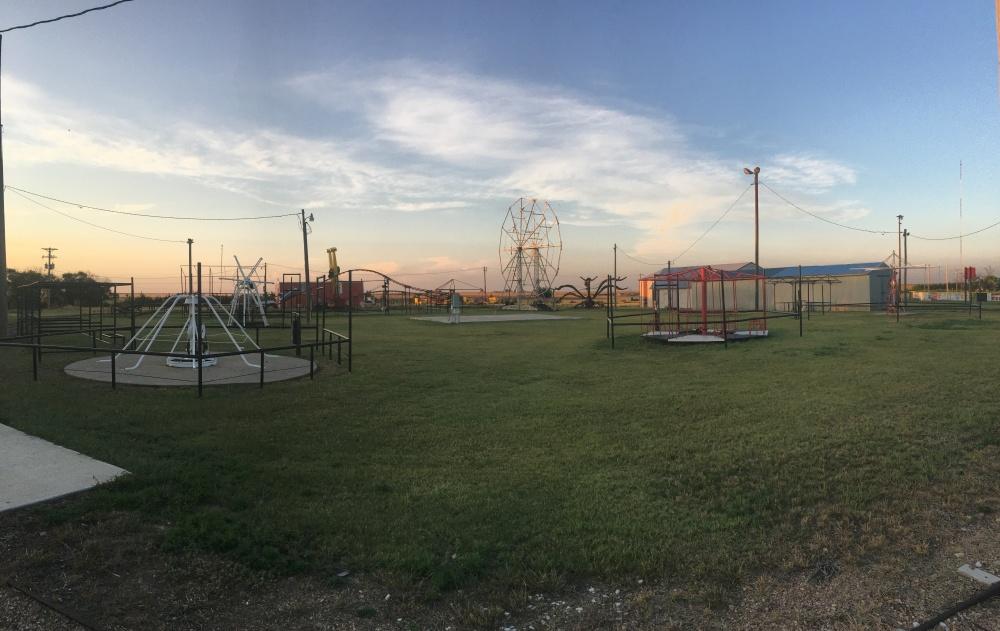 An abandoned amusement park in western Kansas.
