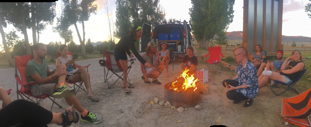 S'mores at camp in Ely, NV.