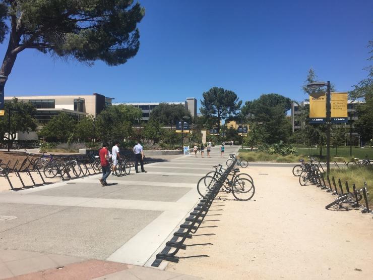 Visiting UC Davis' campus.